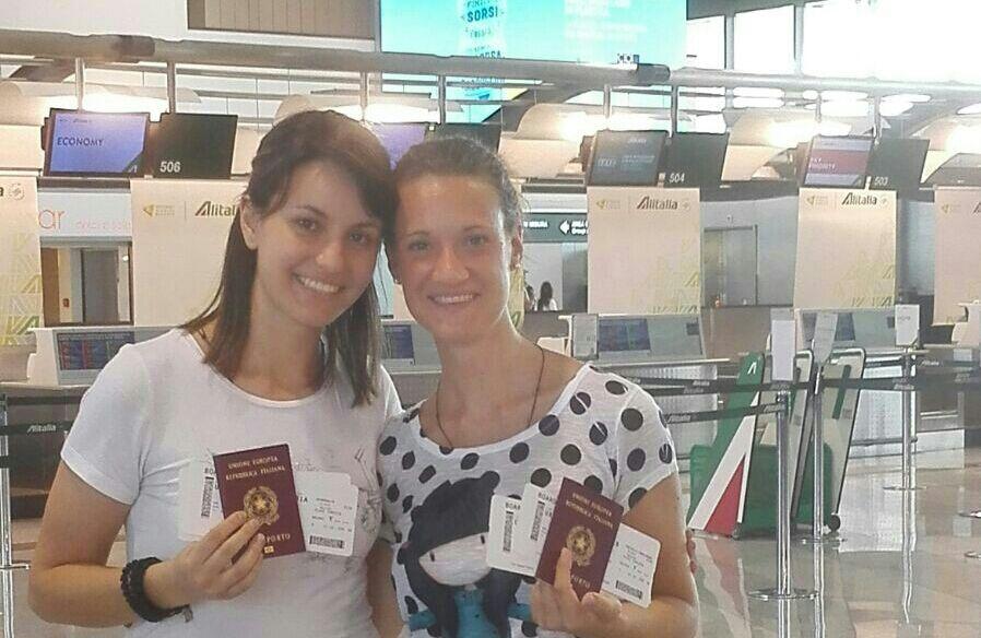 Maria Chiara e Marianna in partenza per il Brasile