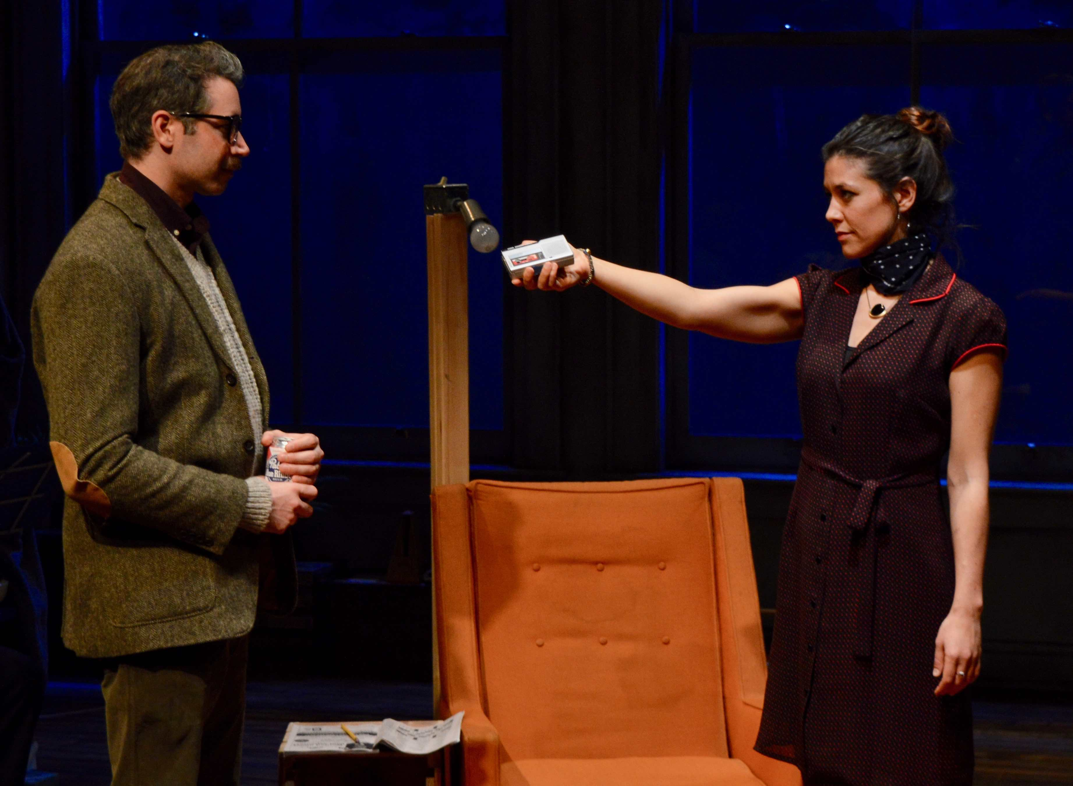 Andrew Pastides as Walter and Zoë Winters as Maggie. Photo by Julie Haber