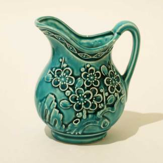 Small blue water jug or vase