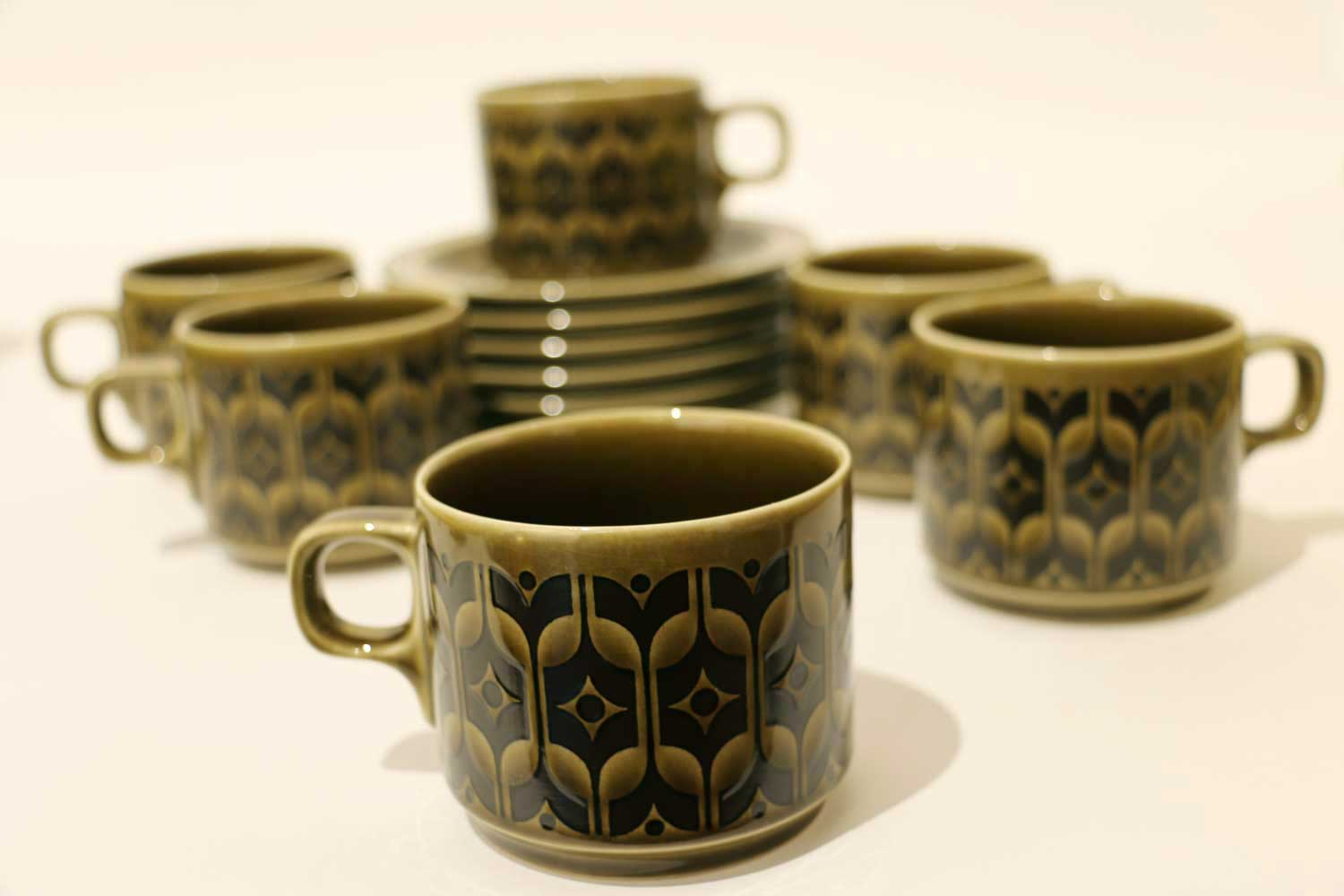 Hornsea set of 6 cups and saucers