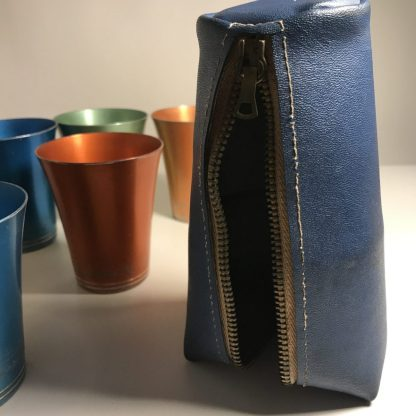 Anodised cup set with zip up case