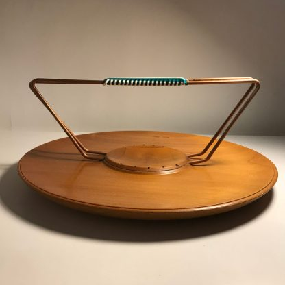 1950s hors d oeuvres platter with copper handle
