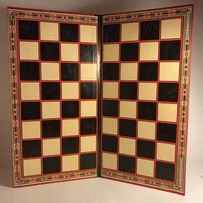 vintage Harlesden draughts set with board and pieces j0173b