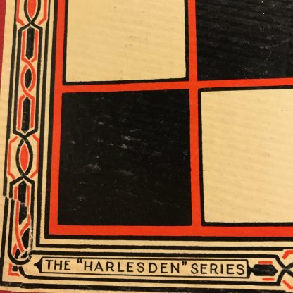 vintage Harlesden draughts set with board and pieces j0173c