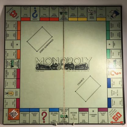 mission modern 1930s monopoly board and box j0170b