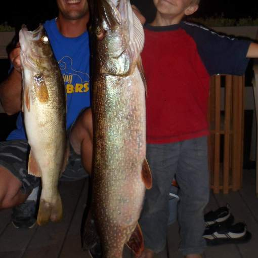 huge fish caught on lake superior by kids