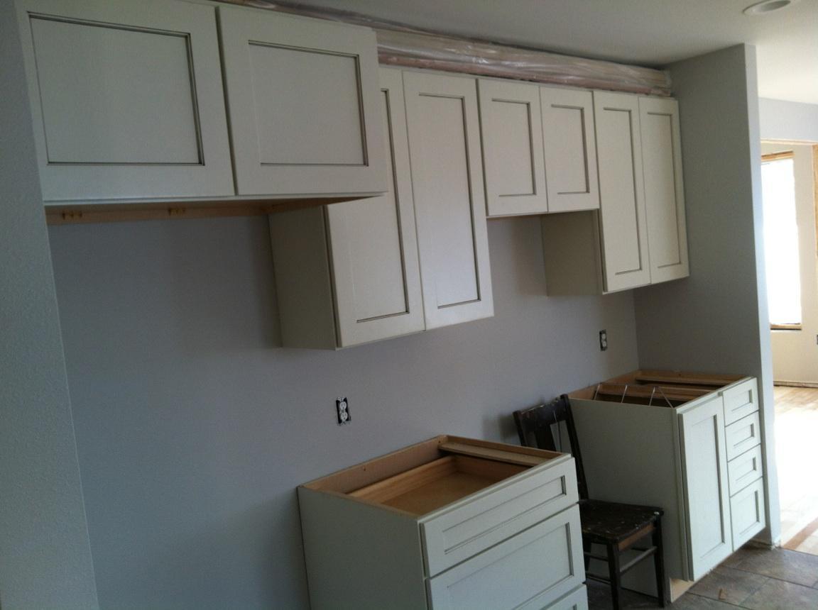 lake house kitchen stove and fridge side