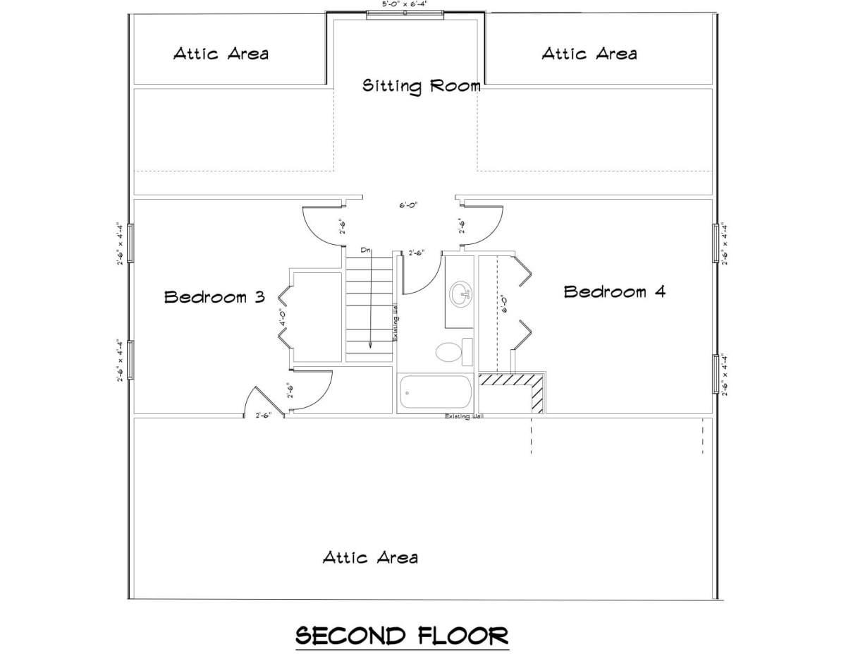 Lake House second floor plan