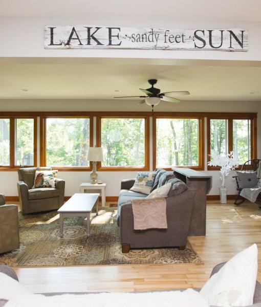 Lake House great room