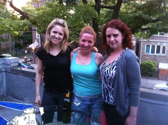 (L-R) Laura, Meredith, and Kari pose after our BBQ hosted by Meredith on her lovely deck.