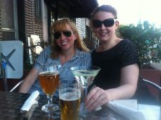 (L-R) Meredith and Kari at our planning meeting at Bistro 33