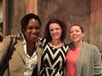 Shaun Fauntleroy mingles with co-founders Kari Bentley-Quinn and Meredith Packer