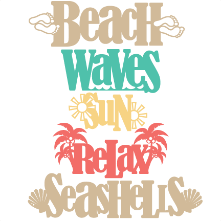 Download Beach Word Titles SVG scrapbook cut file cute clipart ...