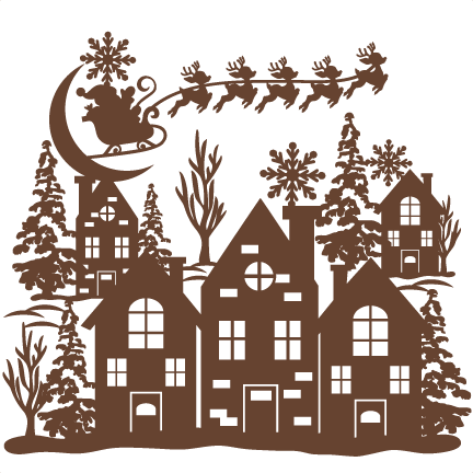 Download Christmas Scene SVG scrapbook cut file cute clipart files ...