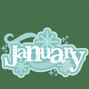 January Title SVG scrapbook cut file cute clipart files ...