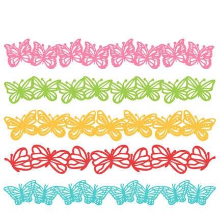 Download Butterfly Borders SVG scrapbook cut file cute clipart ...