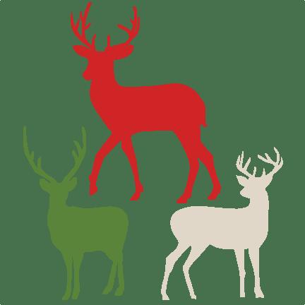 Download Winter Reindeer SVG scrapbook cut file cute clipart files ...