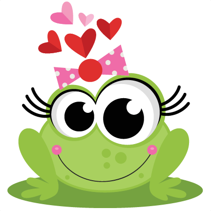 Frog In Love SVG Scrapbook Cut File Cute Clipart Files For