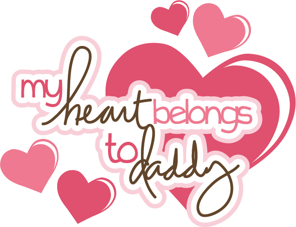 Download My Heart Belongs To Daddy SVG scrapbook title svg files ...