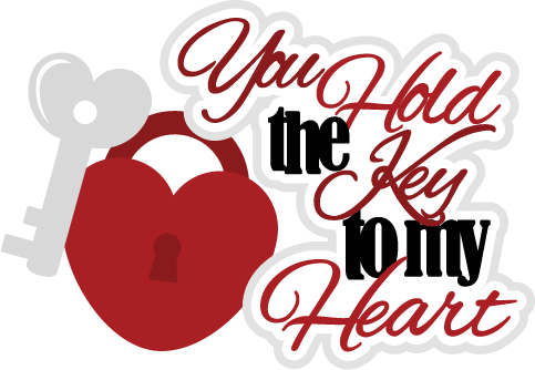 You Hold The Key To My Heart SVG Scrapbook File Svg File