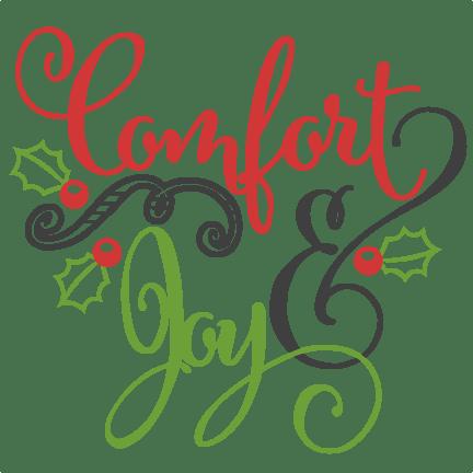 Download Comfort & Joy scrapbook clip art christmas cut outs for ...