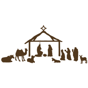 Download Nativity Scene scrapbook clip art christmas cut outs for ...