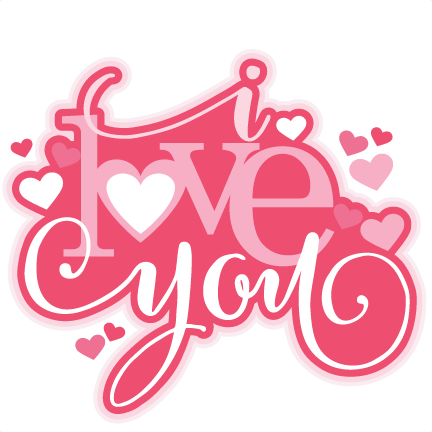 Download I Love You SVG scrapbook title valentine SVG cutting file ...