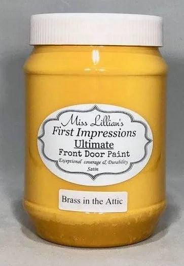 Front Door Paint - Brass in the Attic