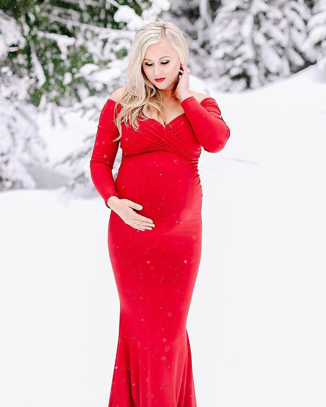 Miss madison photo props designer maternity gown accessories chloe fitted maternity gown off the shoulder maternity gown long sleeve maternity gown ombrellifo Choice Image