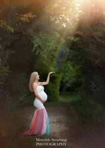 Baby Shower Dress, Maternity Dress for Photoshoot, Maternity Gown photography, fitted Dress, rainbow maternity gown, rainbow maternity dress