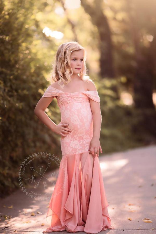 girls chiffon dress, flower girl dress, princess, dress, long dress
