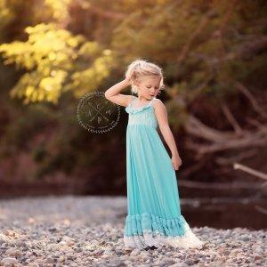 girls long dress, girls maxi dress, ruffles, beach