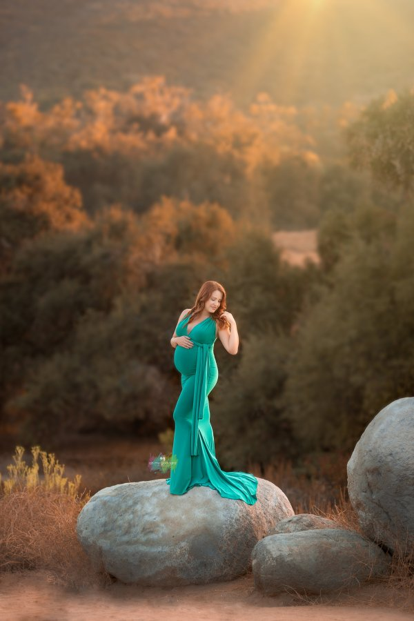 maternity wrap dress, fitted Infinity Gown, maternity dress, bridesmaid, baby shower, photography, photo shoot, maternity gown