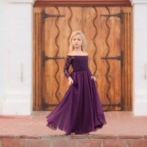 girls formal dress, lace, chiffon, off the shoulder sleeves, flower girl, milestone, birthday dress, girls formal gown