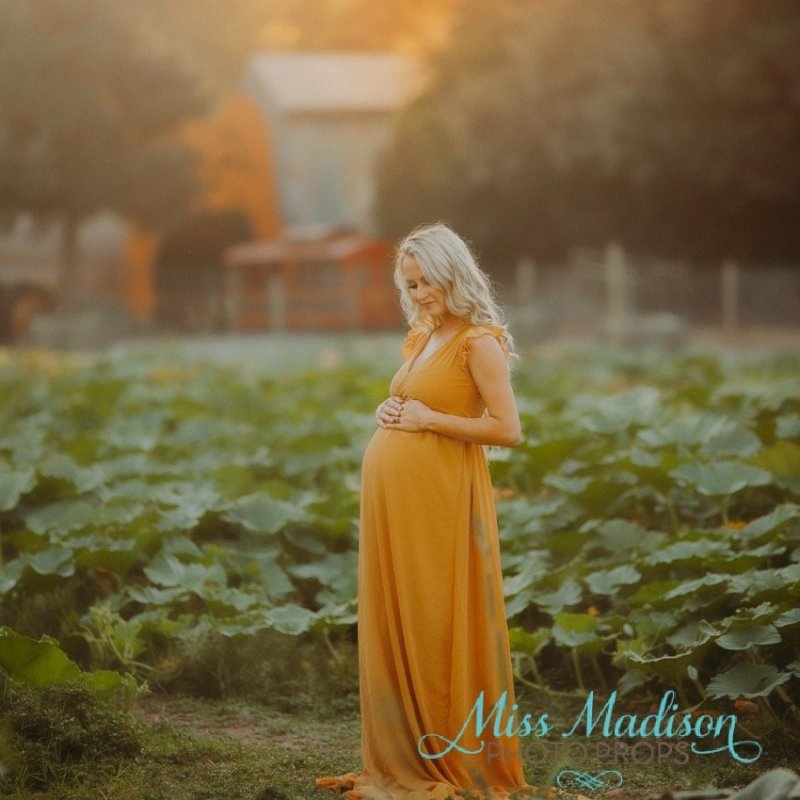 One more share in our Juniper Wraparound Maternity Gown