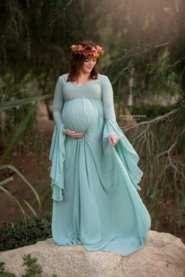 long sleeve maternity maxi dress, renaissance inspired maternity gown, chiffon renaissance inspired maternity gown, bridesmaid gown, maternity gown, dress, baby shower, photography, photoshoot