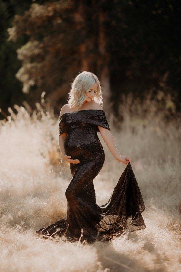 elegant sequin gown, maternity dress, bridesmaid dress, bridal, maternity gown, photo shoot, photography