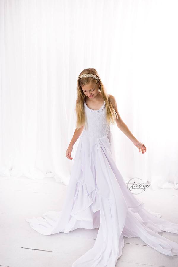 layered chiffon girls dress, girls layered chiffon dress, flower girl, junior bridesmaid, birthday, formal girls gown