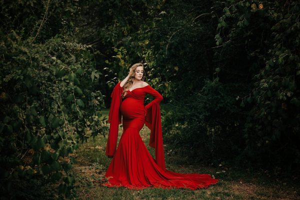 studio maternity session, autumn maternity dress, long sleeve maternity dress, long sleeve maternity dress, Chloe Fitted Maternity Gown, Off the Shoulder maternity gown, long sleeve maternity gown