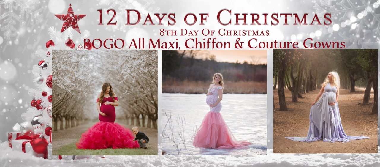 12 days of christmas, maternity gown, maternity dress, photography, photoshoot, babyshower dress, bridesmaid dress, party dress