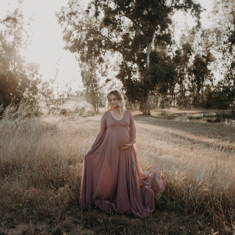 Loving This Momma In Our Reya Gown