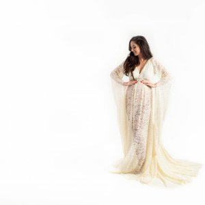 boho maternity dress, ruffled neckline, Flounce Maternity Dress, maternity dresses for photoshoot, maternity dresses for photography, baby shower dresses, maternity gown, fitted, jersey, ruffle