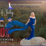 Red, White & Due 4th Of July Sale