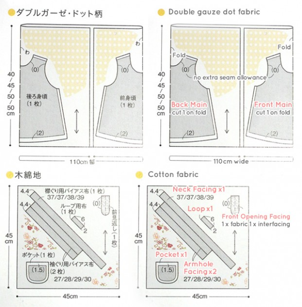 baby tunic pattern layout : Easy to understand baby and kids clothes : ISBN 978-4-529-04842-2