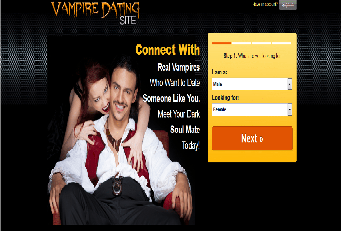 vampire dating sites