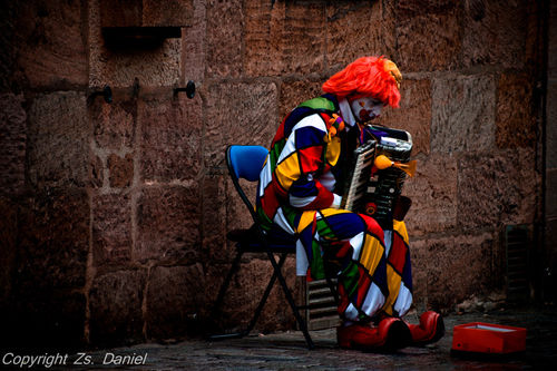 The Sad Clown by Zsofia Daniel