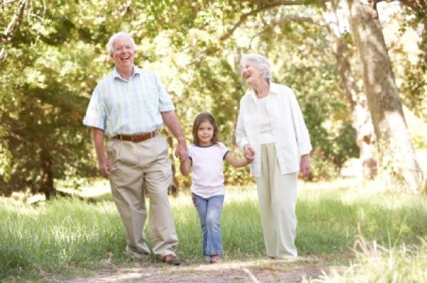 Grandparents In Park With Granddaughter death of a loved one