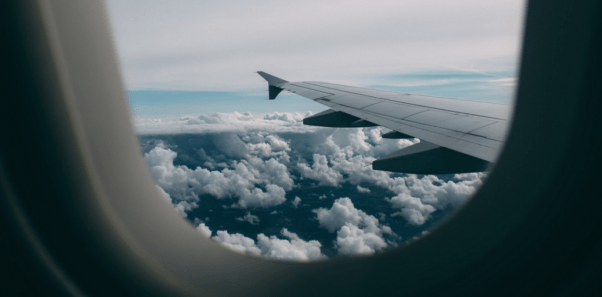 traveling alone on an airplane