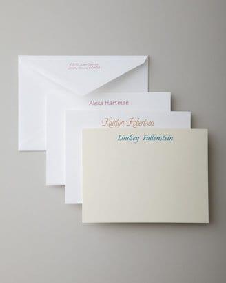 correspondence cards housewarming gift