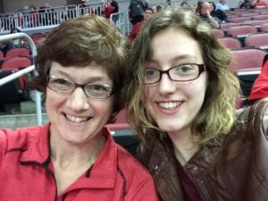 mother/daughter female sports fan
